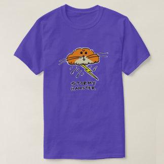 Camiseta tempestuosa del hámster