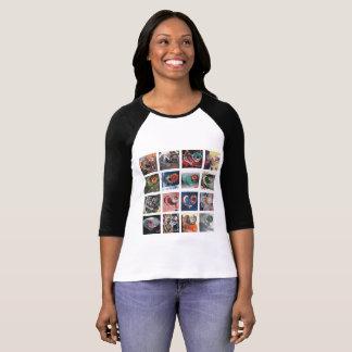 Camiseta Tenga un raglán largo de la manga de las mujeres