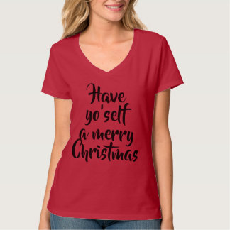Camiseta Tenga Yo'self las Felices Navidad el decir de la