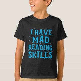 Camiseta tengo habilidades de lectura enojadas