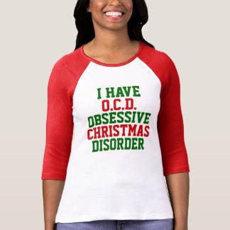 Camiseta Tengo raglán del desorden de O.C.D. Obsessive