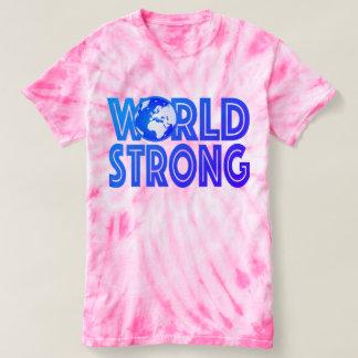 Camiseta Teñido anudado fuerte del mundo
