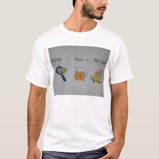Camiseta tenis y cerveza