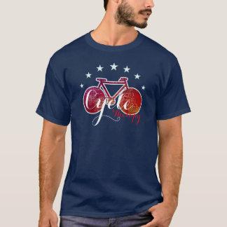 Camiseta terapia del ciclo, bicicleta roja