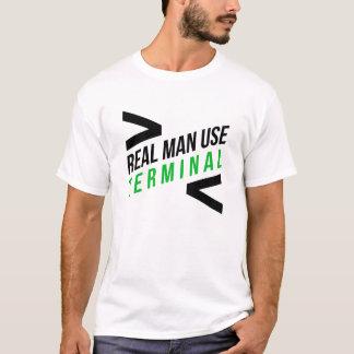 Camiseta Terminal real del uso de los hombres