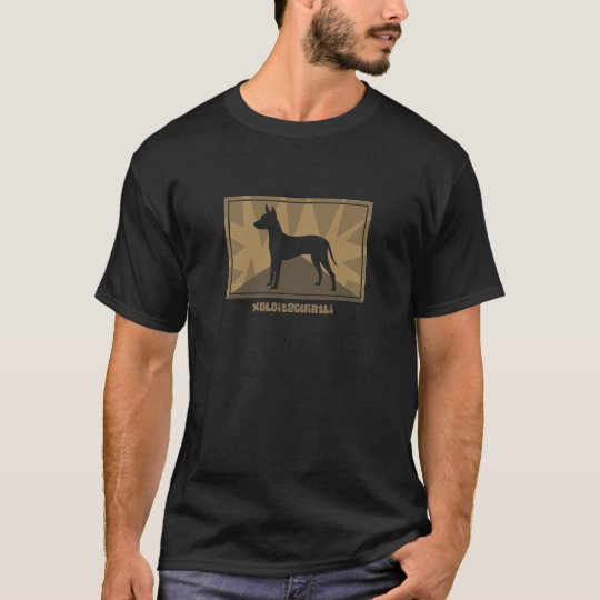 Camiseta terrosa de Xoloitzcuintli