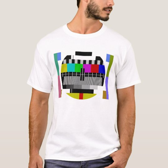 Camiseta Test Card T-Shirt TV Pattern