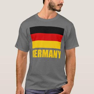 Camiseta Texto amarillo de la bandera de Alemania