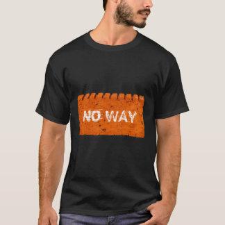 Camiseta Texto anaranjado del personalizado del ladrillo
