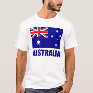 Camiseta Texto australiano del azul de la bandera