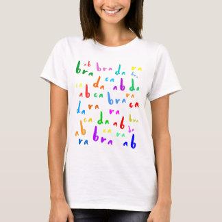Camiseta Texto colorido divertido de la abracadabra en