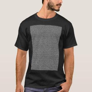 Camiseta Texto de cuerpo de la escritura de la película de