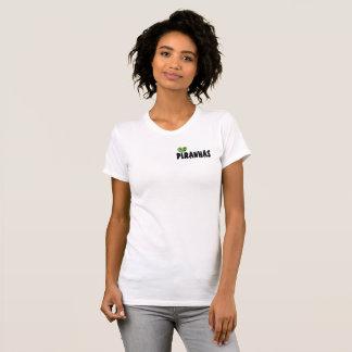 Camiseta Texto de las pirañas con el corazón