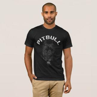 Camiseta Texto del retrato de Pitbull