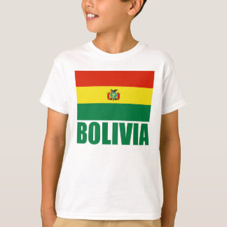 Camiseta Texto del verde de la bandera de Bolivia