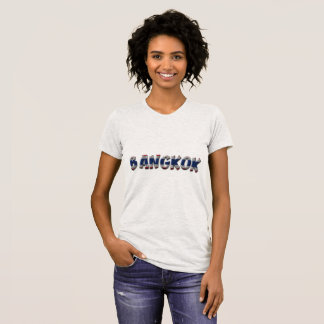Camiseta Texto elegante de la tipografía de Bangkok