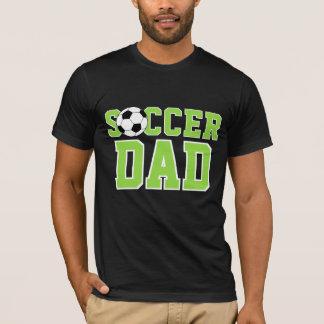 Camiseta Texto fresco de encargo del papá del fútbol de la