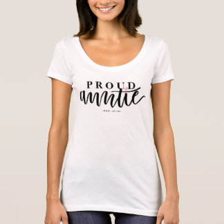 Camiseta Tía orgullosa - caligrafía puesta letras mano del
