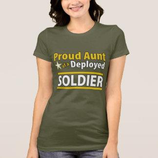 Camiseta Tía orgullosa de encargo de un soldado desplegado