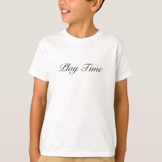 Camiseta Tiempo del juego - T-mierda corta de los niños del