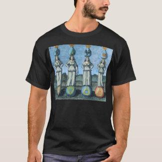 Camiseta Tierra, agua, aire, fuego - elementos alquímicos