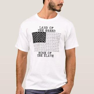 Camiseta TIERRA DE LA AVARICIA, HOGAR DEL ESCLAVO - rawk