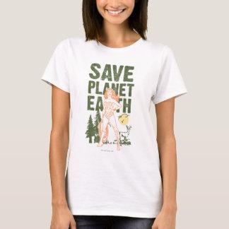 Camiseta Tierra del planeta de la reserva de la Mujer