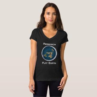 Camiseta Tierra plana de la investigación 1 negro