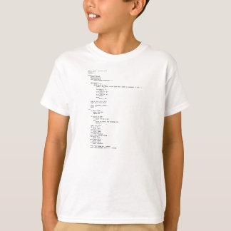 Camiseta Tijeras de papel de la roca, programación del