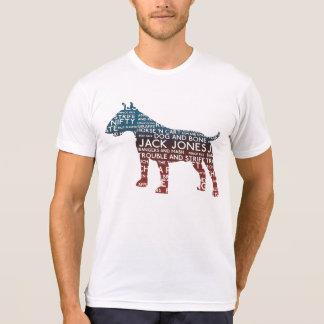 Camiseta Tipografía de bull terrier del londinense de la