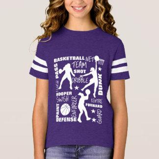 Camiseta Tipografía de SportsTerminology del baloncesto de