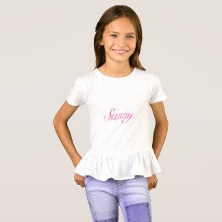 Camiseta Tipografía descarada rosada