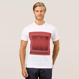 Camiseta tipográfica - capitalismo - Canibalism