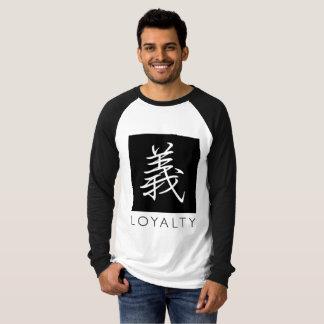 Camiseta tipográfica de la lealtad (carácter