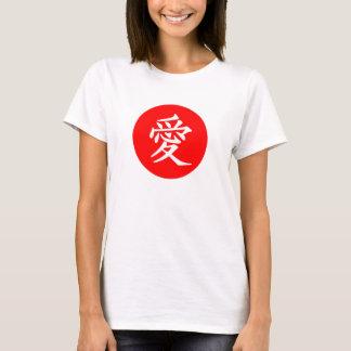 Camiseta tipográfica del amor de la bandera de