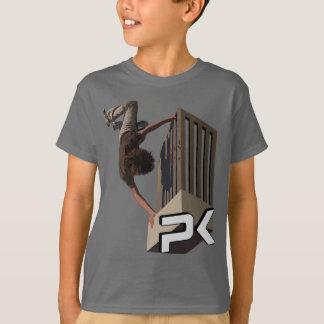 Camiseta Tirón del carril de Parkour