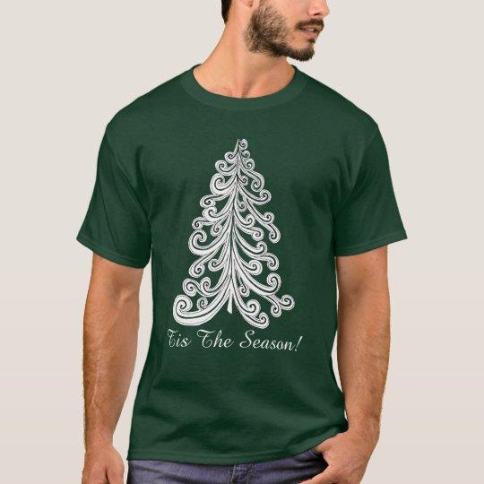 Camiseta Tis el Doodle de moda de Swirly del árbol de
