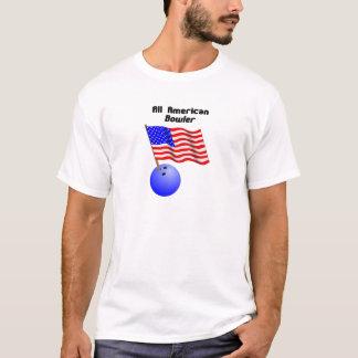 Camiseta Todo el jugador de bolos americano