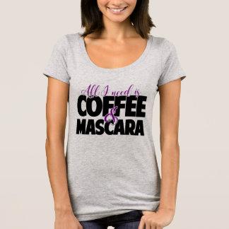 Camiseta Todo lo que necesito es café y rimel