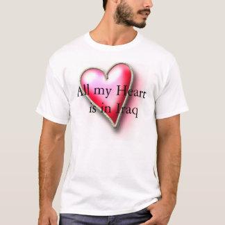 Camiseta todo mi corazón está en Iraq