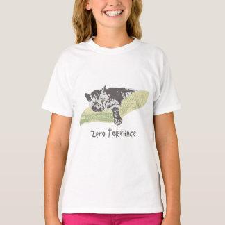 Camiseta Tolerancia cero del gato