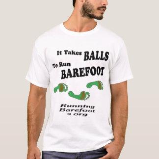 Camiseta Toma las bolas corridas descalzo