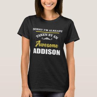 Camiseta Tomado por un ADDISON impresionante. Cumpleaños
