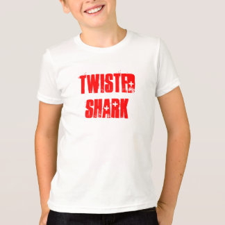 Camiseta torcida del penique del tiburón