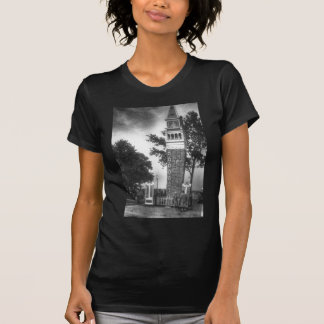 Camiseta Torre blanco y negro