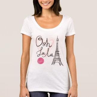 Camiseta Torre Eiffel dibujada mano