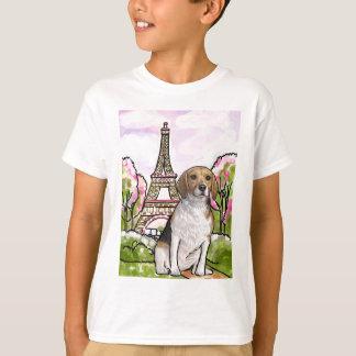 Camiseta torre Eiffel París del beagle