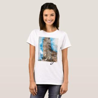 Camiseta Torre inclinada de Pisa en Italia