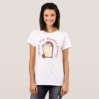 Camiseta Torta personalizada de la fresa del fiesta del