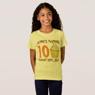 Camiseta Torta personalizada de la magdalena del favor de
